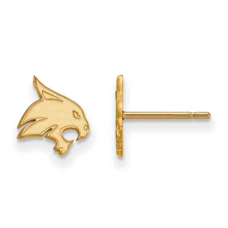 GP007TST: 925 YGFP Texas State XS Post Earrings