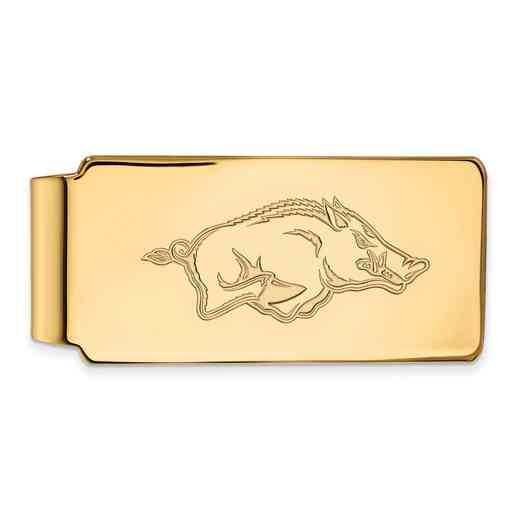 GP024UAR: 925 YGFP Arkansas Money Clip