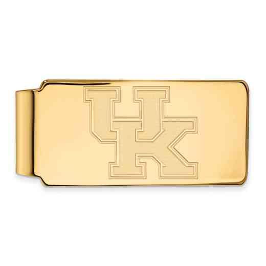 GP025UK: 925 YGFP Kentucky Money Clip