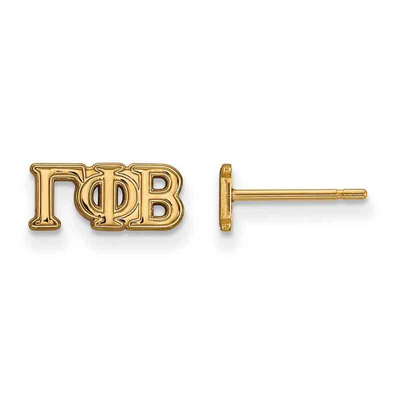 GP005GPB: 925 YGFP Logoart GPB Post Earrings