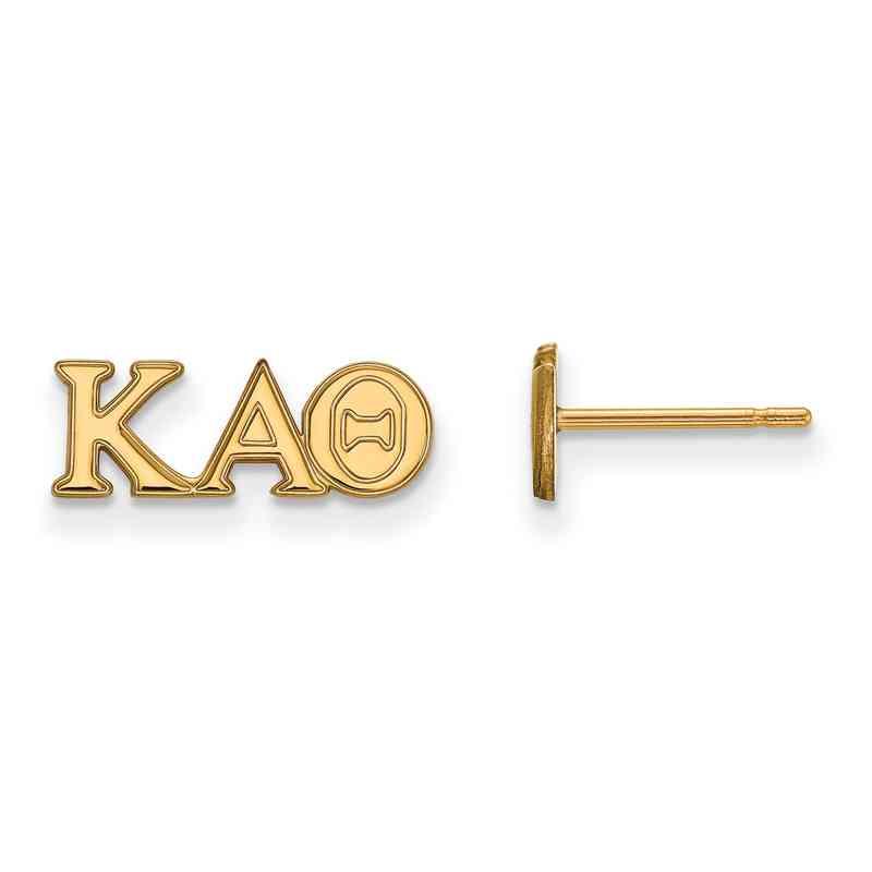 GP005KAT: 925 YGFP Logoart KAT Post Earrings