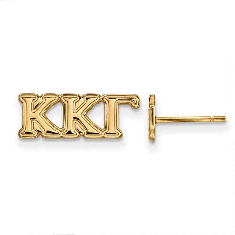GP005KKG: 925 YGFP Logoart KKG Post Earrings