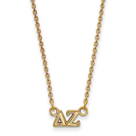GP006DZ-18: 925 YGFP Logoart DZ Necklace