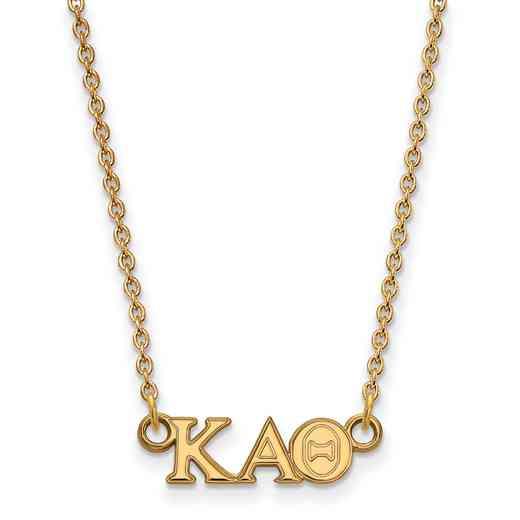 GP006KAT-18: 925 YGFP Logoart KAT Necklace