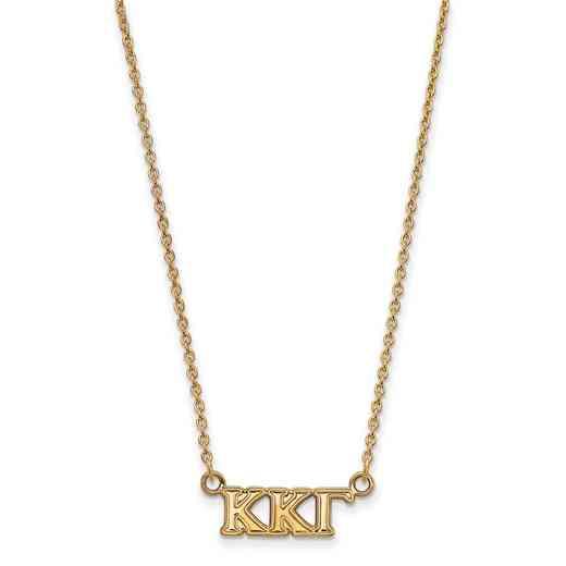 GP006KKG-18: 925 YGFP Logoart KKG Necklace