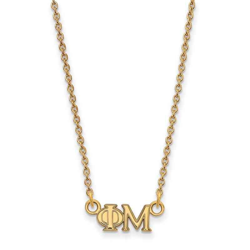 GP006PHM-18: 925 YGFP Logoart PM Necklace