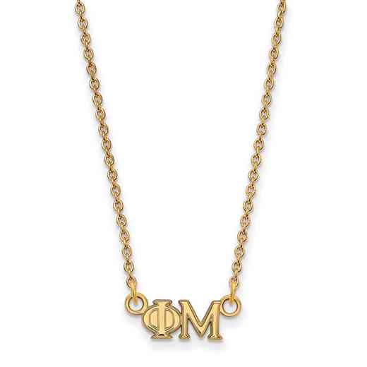 GP006PHM-18: 925 YGFP Logoart PM Necklace