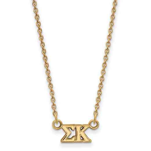 GP006SKP-18: 925 YGFP Logoart SP Necklace