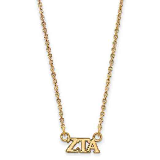 GP006ZTA-18: 925 YGFP Logoart ZTA Necklace