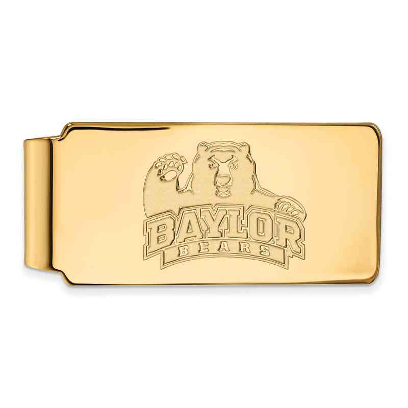 GP017BU: 925 YGFP Baylor Money Clip