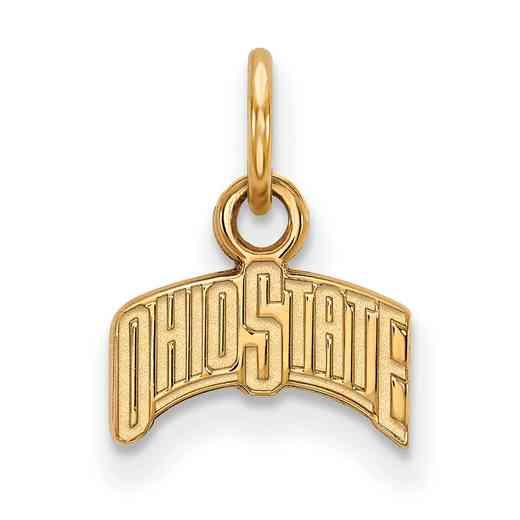 GP066OSU: 925 YGFP Ohio State XS Pendant