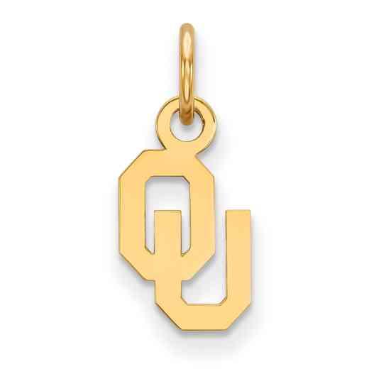 GP001UOK: 925 YGFP Oklahoma XS Pendant