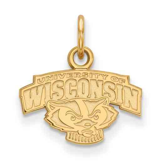 GP074UWI: 925 YGFP Wisconsin XS Pendant