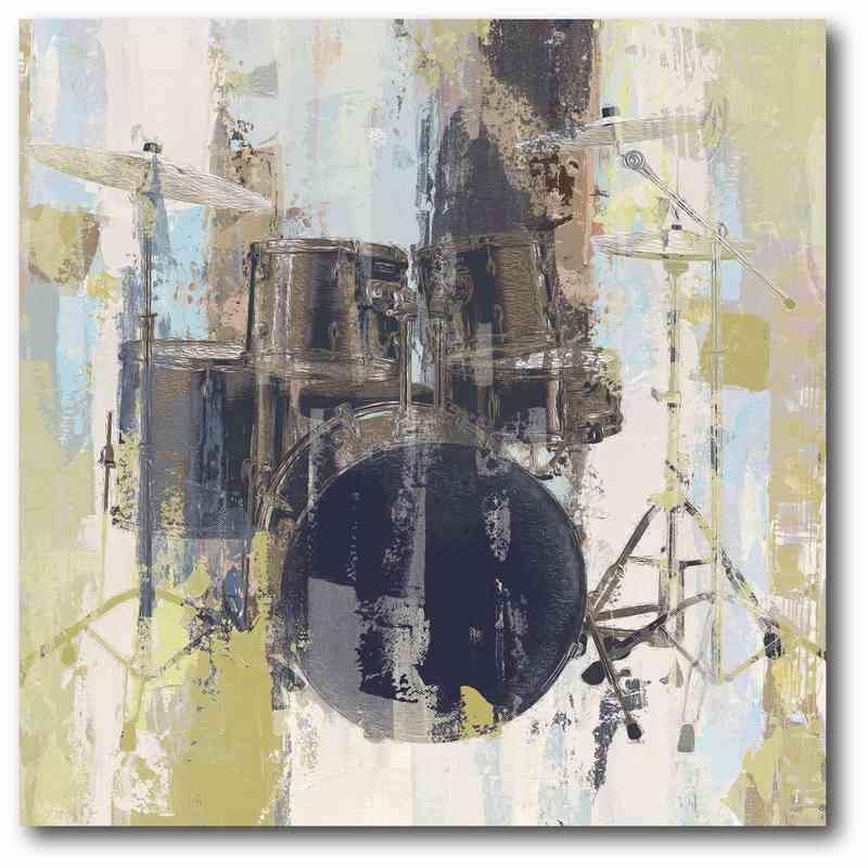 WEB-P179: Abstract Drums Canvas 16x16