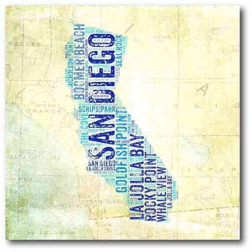 WEB-ST151: California San Diego Canvas 16x16