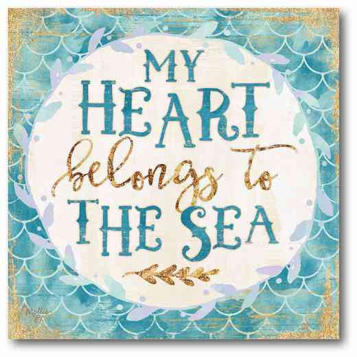 WEB-T720-16x16: My Heart Belongs to the Sea Canvas 16x16