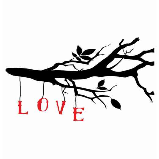 DEC-TYP320: LOVE branch Wall Decals 20x30