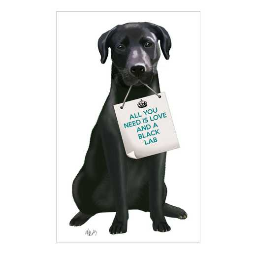 DEC-TYP218: The Black lab Wall Decals 30x30