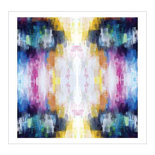 DEC-G216-50x50: IKAT Rainbow Large Wall Decal 50x50
