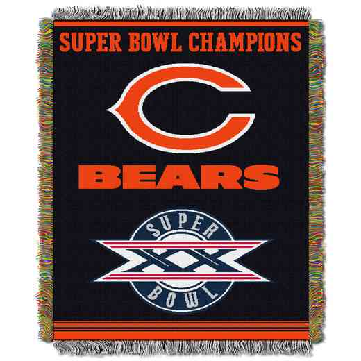1NFL051400001RET: NW NFL Comm Tapestry Throw, Bears