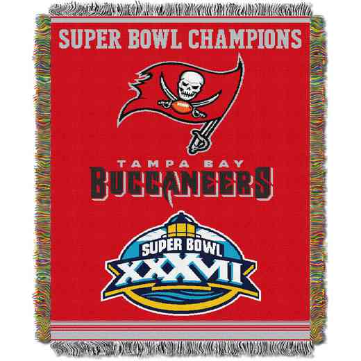1NFL051400006RET: NW NFL Comm Tapestry Throw, Buccs