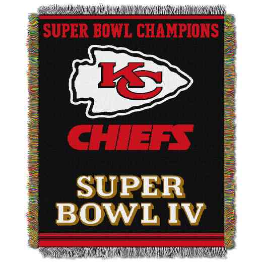 1NFL051400007RET: NW NFL Comm Tapestry Throw, Chiefs