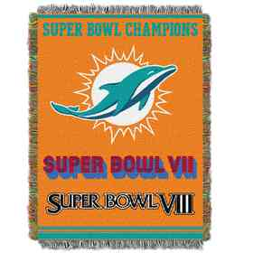 1NFL051400010RET: NW NFL Comm Tapestry Throw, Dolphins