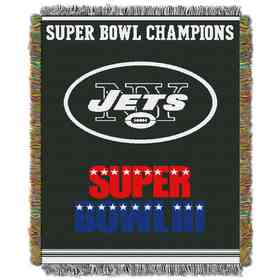 1NFL051400015RET: NW NFL Comm Tapestry Throw, Jets