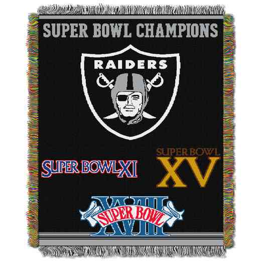 1NFL051400019RET: NW NFL Comm Tapestry Throw, Raiders