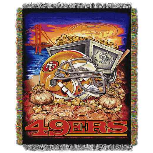 1NFL051010013RET: NW NFL HFA Tapestry Throw, 49ers