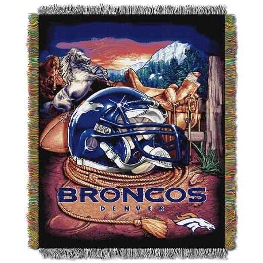 1NFL051010004RET: NW NFL HFA Tapestry Throw, Broncos