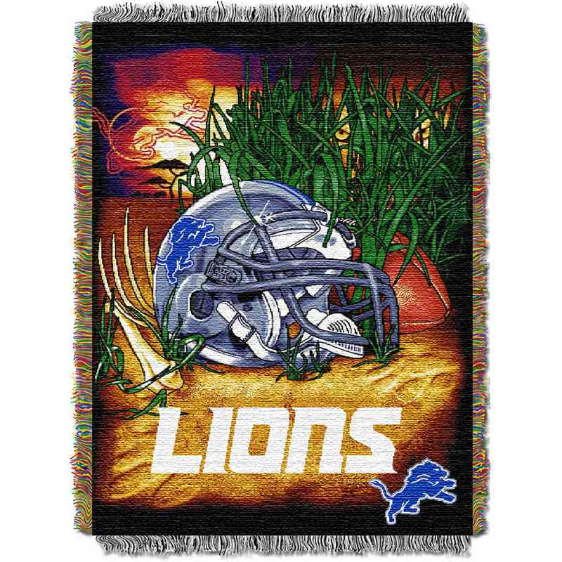 1NFL051010082RET: NW NFL HFA Tapestry Throw, Lions