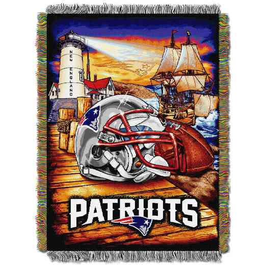 1NFL051010076RET: NW NFL HFA Tapestry Throw, Patriots