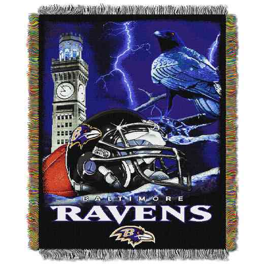 1NFL051010077RET: NW NFL HFA Tapestry Throw, Ravens