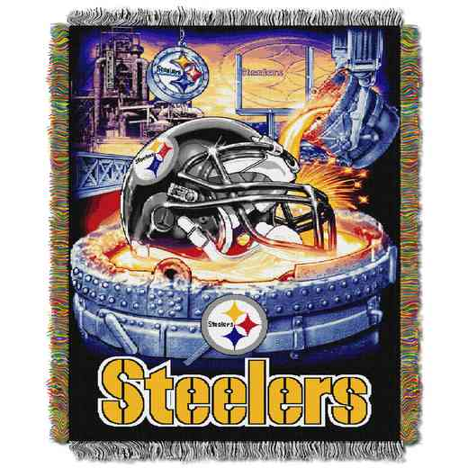 1NFL051010078RET: NW NFL HFA Tapestry Throw, Steelers