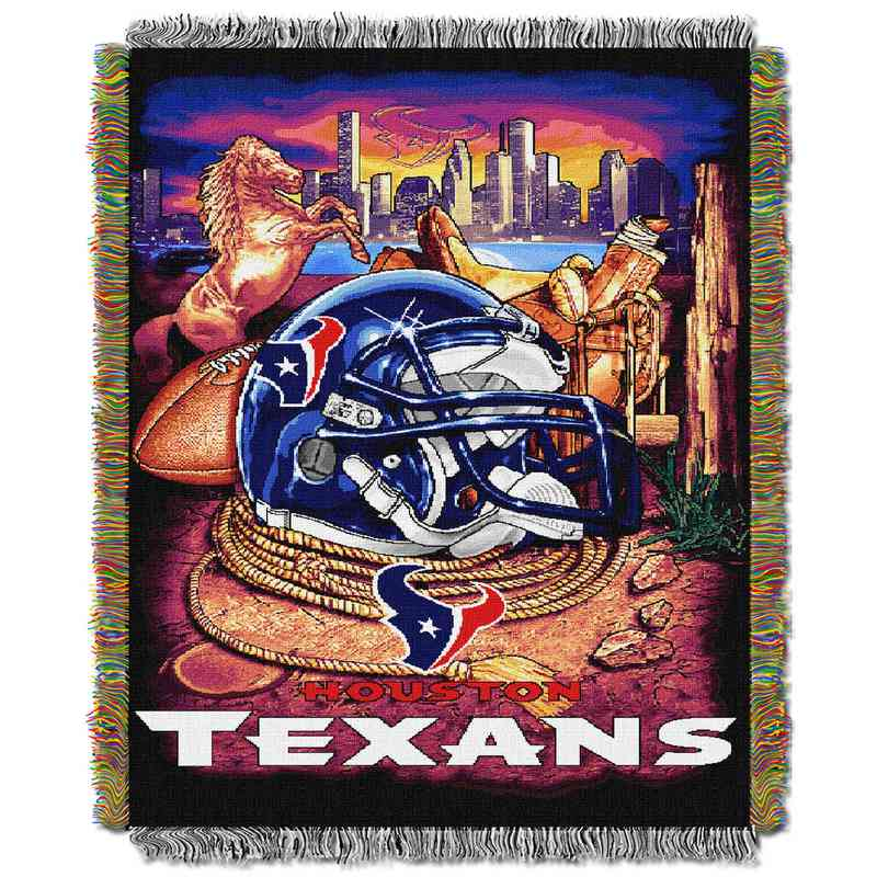 1NFL051010119RET: NW NFL HFA Tapestry Throw, Texans
