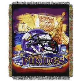 1NFL051010023RET: NW NFL HFA Tapestry Throw, Vikings