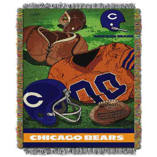 1NFL051020001RET: NW NFL Vintage Tapestry Throw, Bears