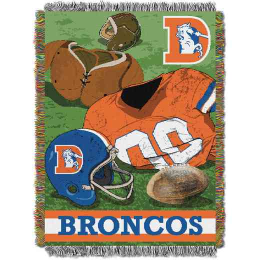1NFL051020004RET: NW NFL Vintage Tapestry Throw, Broncos