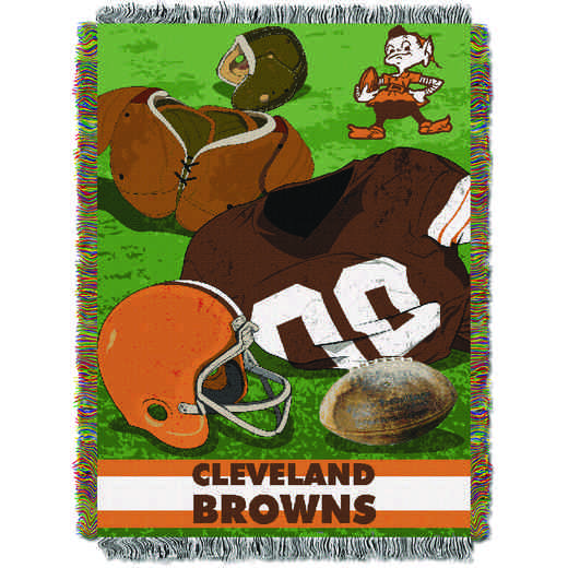 1NFL051020005RET: NW NFL Vintage Tapestry Throw, Browns