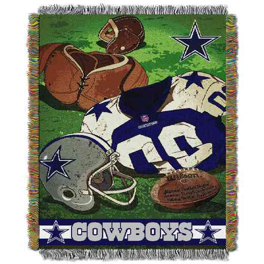 1NFL051020009RET: NW NFL Vintage Tapestry Throw, Cowboys