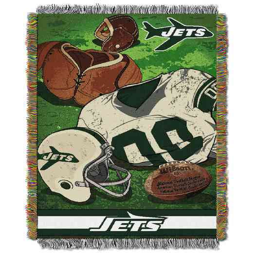 1NFL051020015RET: NW NFL Vintage Tapestry Throw, Jets
