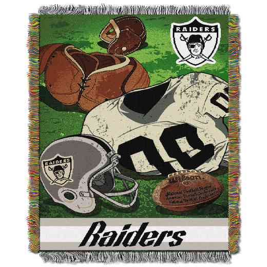1NFL051020019RET: NW NFL Vintage Tapestry Throw, Raiders