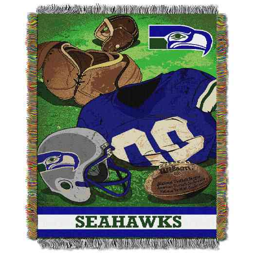 1NFL051020022RET: NW NFL Vintage Tapestry Throw, Seahawks
