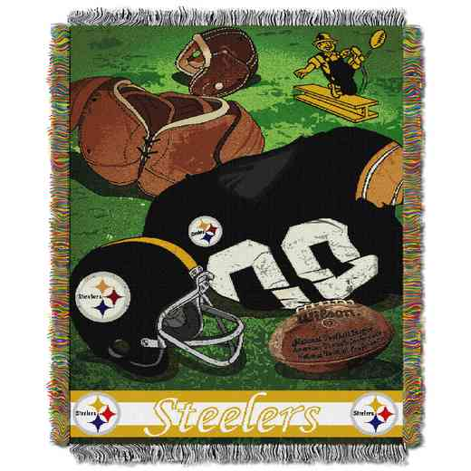 1NFL051020078RET: NW NFL Vintage Tapestry Throw, Steelers