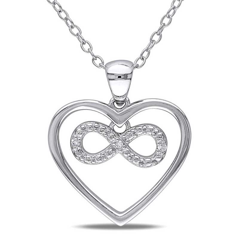 BAL000171: CLR 925 DIA ACCNT INFINITY HEART NECKLACE