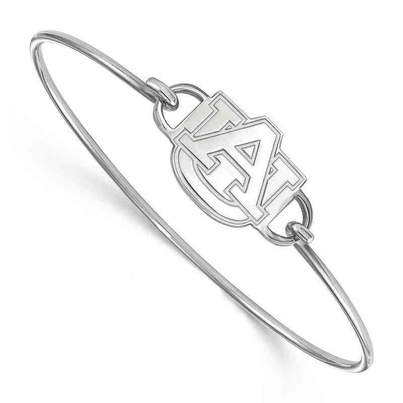 Auburn AU Logo Sterling Silver Wire Bangle (Size 6)