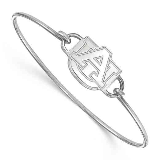 Auburn AU Logo Sterling Silver Wire Bangle (Size 6)