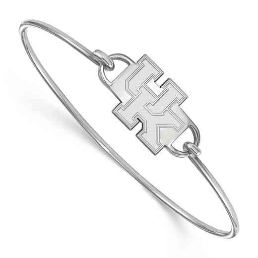 Kentucky UK Logo Sterling Silver Wire Bangle (Size 6)