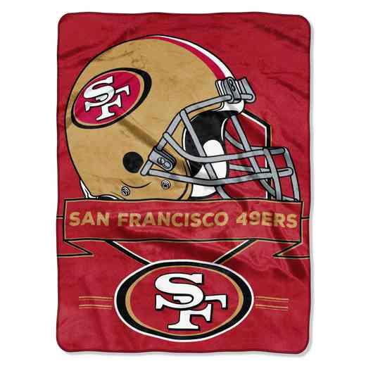 1NFL080710013RET: NW NFL Prestige Raschel Throw, 49ers